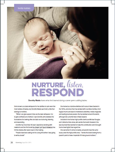 Parenting Magazine Dorothy Waide