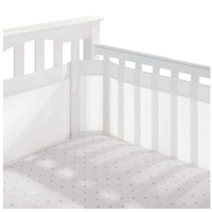 White Breathable Mesh Cot Liner