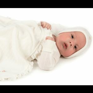 Merino baby shawl