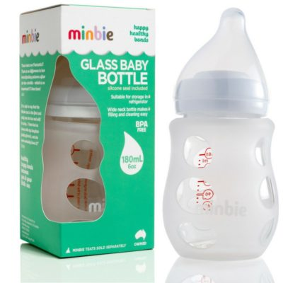 Minbie Glass Bottle – Excluding Teat